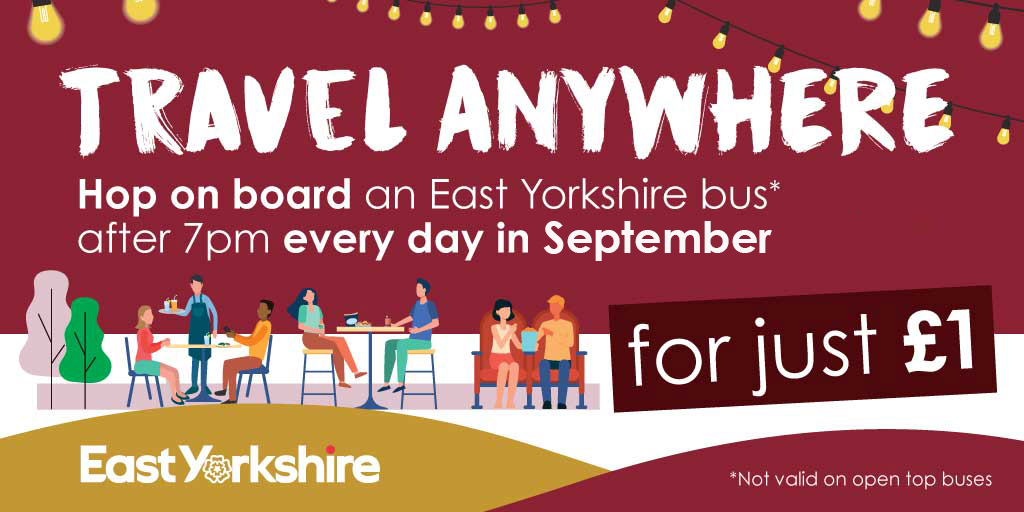 Travel anywhere in September for just £1 after 7pm
