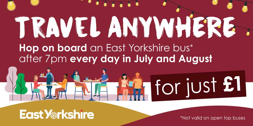 Travel anywhere for just £1