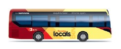 An illustration of a Beverley Locals bus