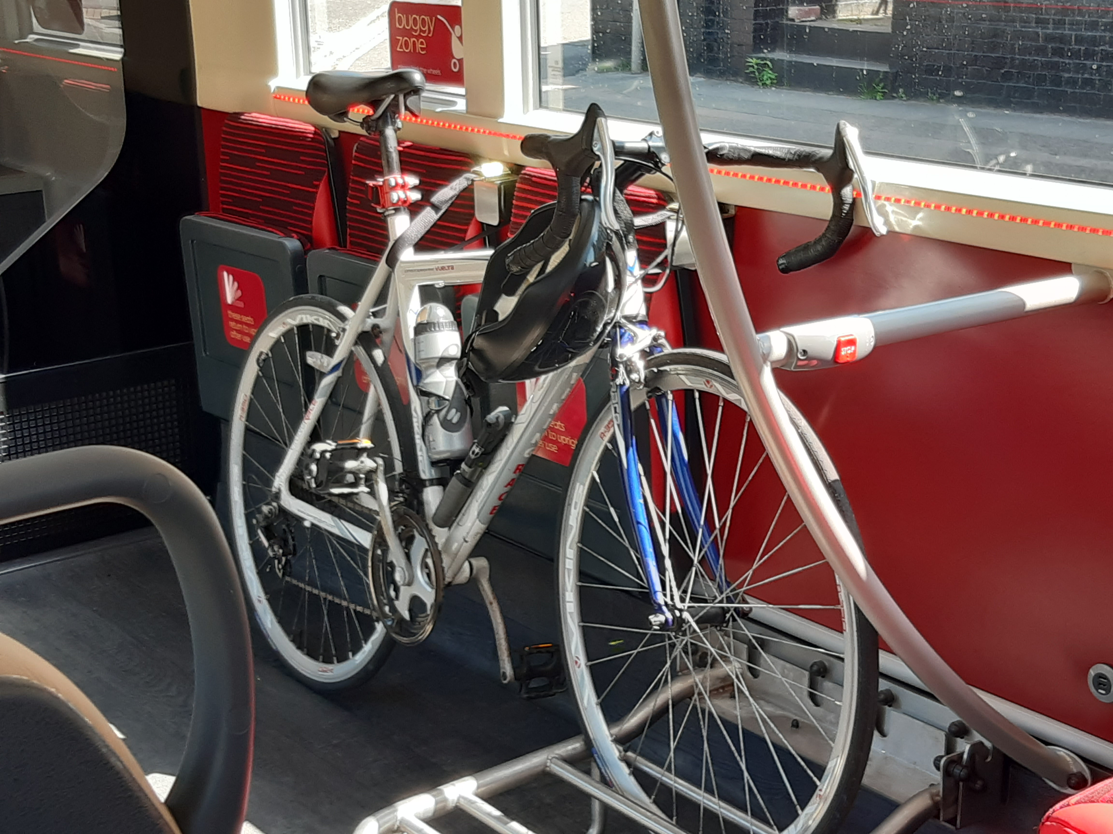 A bike on board a bus